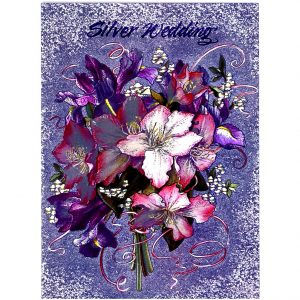 3673 Purple & Pink Bouquet – by Gillian Griffiths