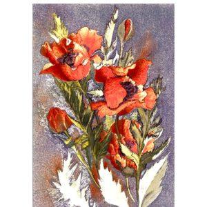 0421 Oriental Poppies – Heron – Dufex