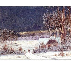 0705 Winter Landscape – Heron – Dufex