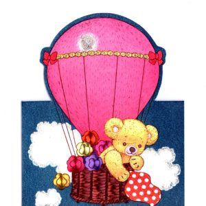 1031 Teddy in Balloon – Heron – Dufex