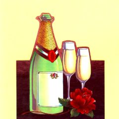 1036 Champagne & Glasses – Heron – Dufex