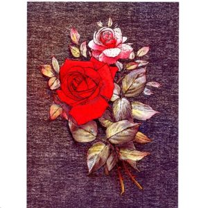 3598 Red & Pink Rose – Heron Dufex