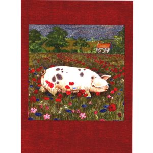 3666 Pig in Poppy Field – by Debbie Cook