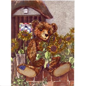 3669 Todnes – Teddy & Sunflower – by Debbie Cook