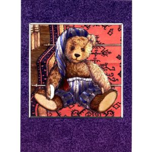3712 Teddy Bear on Stairs – by Debby Cook