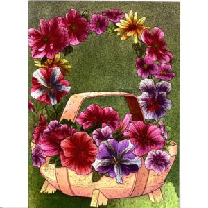 3718 Floral Trug by Alan Norman