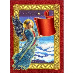 3729 Angel – write Wish on the Banner