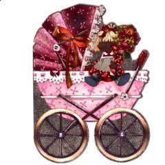 4012 Baby Girl – Pink Pram – by Heron Dufex