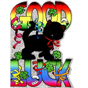 4042 Good Luck – Black Cat – by Heron Dufex
