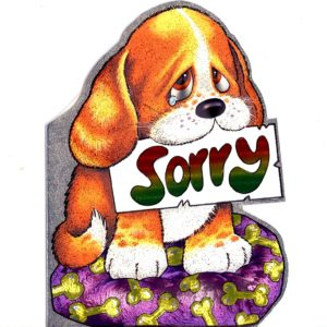 4056 Puppy with Tear – Sorry – by Heron Dufex