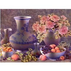 6502 Porcelain Fruit & Roses – print