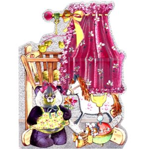 6561 Pink Cot with Toys – birth – by Heron Dufex