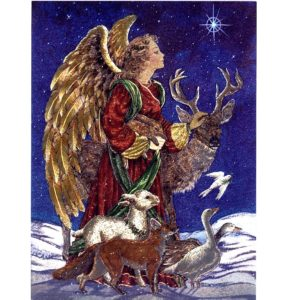 6596 Angel with Animals – by Heron Dufex