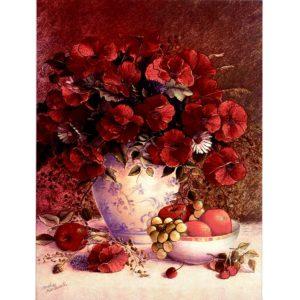 6636 Poppies in Delft Vase