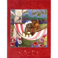 6640 2 Teddy Bears in Hangmat