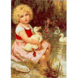 ES12 Nursing a Poorly Duckling – by Frederick Morgan 1856-1927