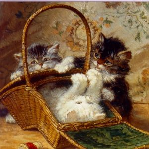 ESL12 Summer Days – kitten in a Basket – by Harriet Eloise Stannard