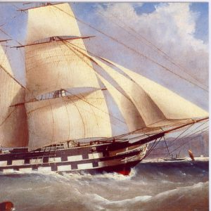 ESL19 Blackwall Frigate of a Busy Port – by Tudgay 19th Century