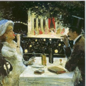ESL28 Dinner at Les Ambassadeurs – by Jean Beraud 1849-1936