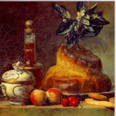 ESL32 The Brioche or The Dessert 1763 – by Jean-Baptiste Simeon Chardin 1699-1779