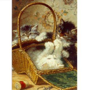 FA05 Kitten in a Work Basket