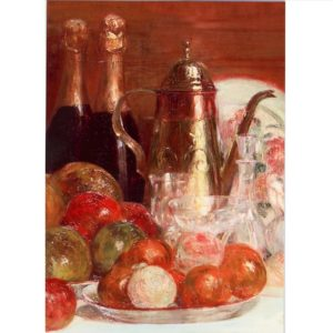 FA09 Still Life with Fruit and Champagne Bottles – by Charles Couche