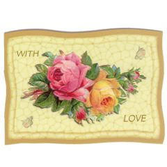 "GE67 Rose Pillow ""With Love"" @ Brian Paterson"