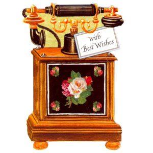 AM03 Antique Telephone/Roses