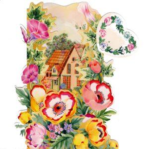 3D705 House Garden Flowers