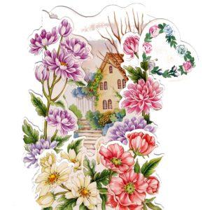 3D706 House Garden Flowers