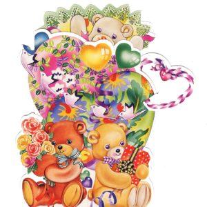 3D711 Teddies Presents Heart