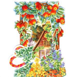 3D713 Fruit Garden House