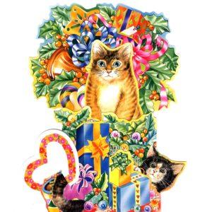 3D751 Cat and Presents