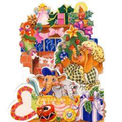 3D852 Elephants/Presents