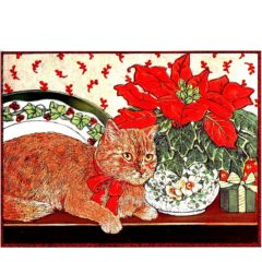 0722 Cat and Poinsettia – Heron – Dufex