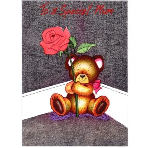 3221 Teddy with Red Rose