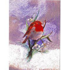 3554 Robin & Snowdrops – Heron Dufex