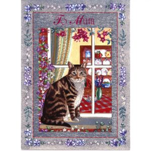 3577 Cat at Window – Heron Dufex