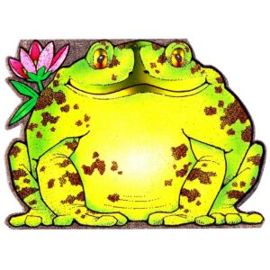 4048 Large Frog with Flower – by Heron Dufex