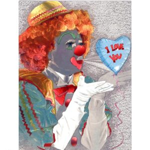 6014 Clown w. Balloon – I Love You – by Heron Dufex