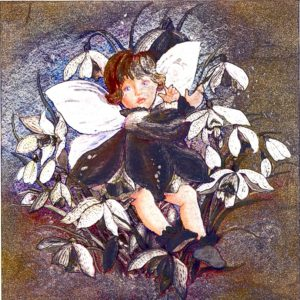 7014 Angel/Fairy in Flowers – by Celia Margaret/Michael Woodward Creations