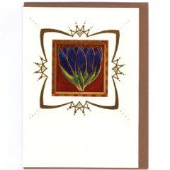 8117 Blue Flower w. Orange Background