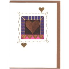 8122 Glittery Heart w. Purple Border – by Alison Harris