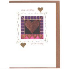 8122 Glittery Heart w. Purple Border