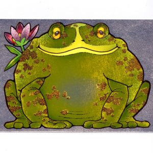 P1300 Frog with Pink Flower – Published by F.J. Warren Limited