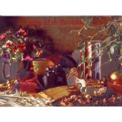 3634 HB 65 Birthday – Masculine Still Life