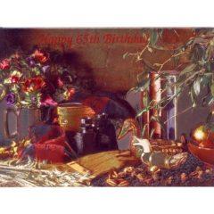 3634 HB 65 Birthday – Masculine Still Life – Heron Dufex