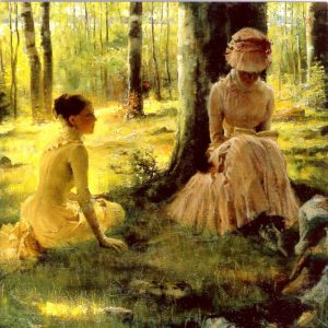 ESL11 Under The Birches – by Albert Edelfelt 1854-1905