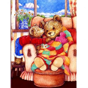 3703 Teddy with Hot water bottle (blank) – By Debbie Cook