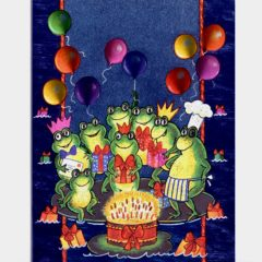 3711 Frogs Birthday Cake Balloons – by Kareen Taylerson
